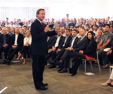 David Cameron Visits Illumina, Discusses Genomics