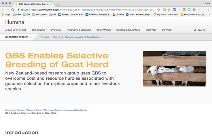 Sequencing Enables Selective Breeding of Goat Herd