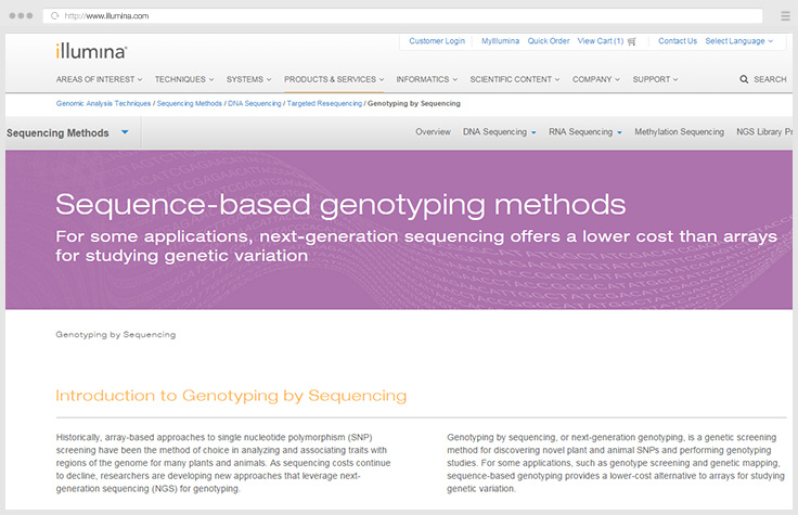 Genotyping by Sequencing (GBS)
