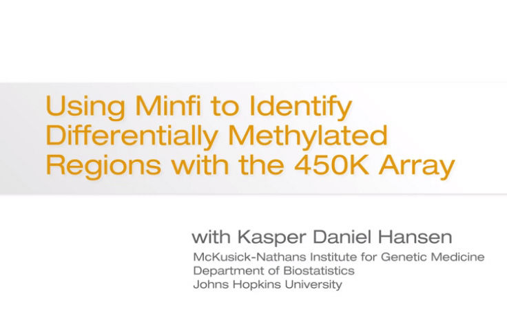 Using Minfi to Identify Differentially Methylated Regions with the 450K Array