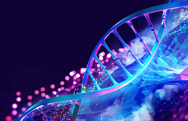 Fluorescent DNA helix